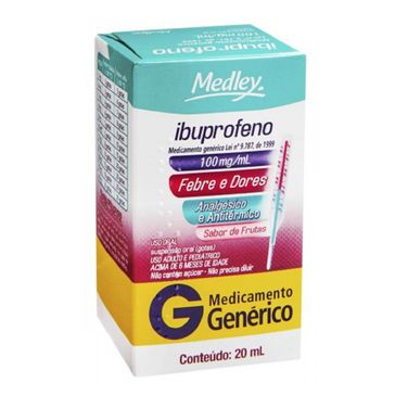 Ibuprofeno Medley 100mg Adulto Gotas 20ml