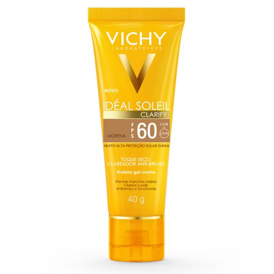 Ideal Soleil Vichy Clarify Cor More Fps60 Toque Seco 40g