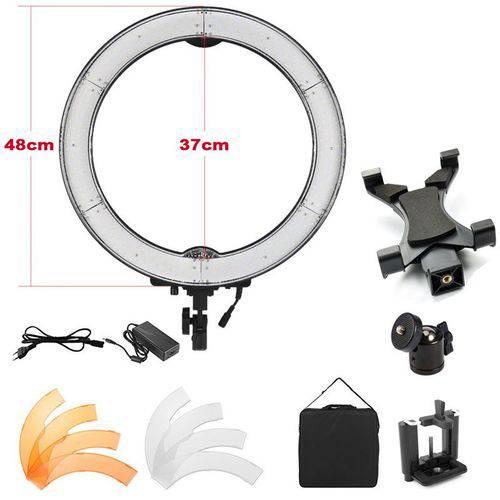 Iluminador Ring Light Led com Difusor - 48cm 55w - Tablet Dslr Celular