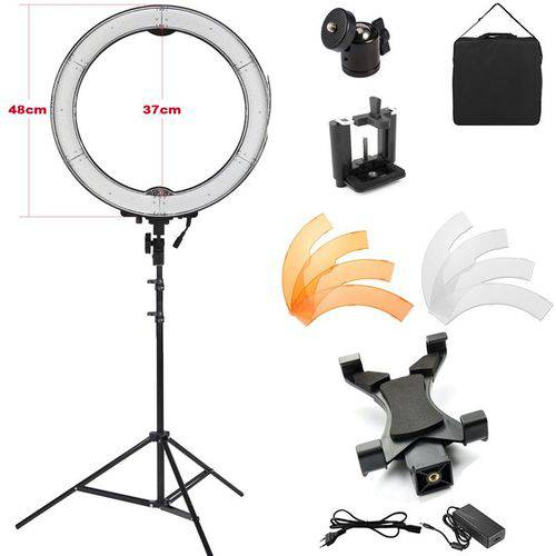 Iluminador Ring Light Led com Tripé - 48cm 55w - Tablet Dslr Celular
