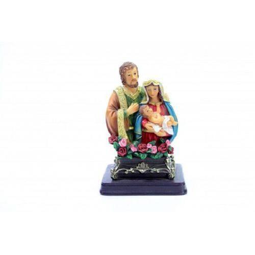 Imagem Escultura Resina Santos Busto Sagrada Familia 13 Cm