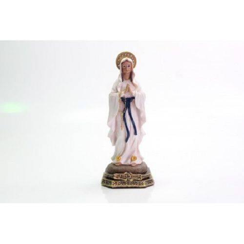 Imagem Escultura Resina Santos Nossa Senhora de Lourdes 9 Cm