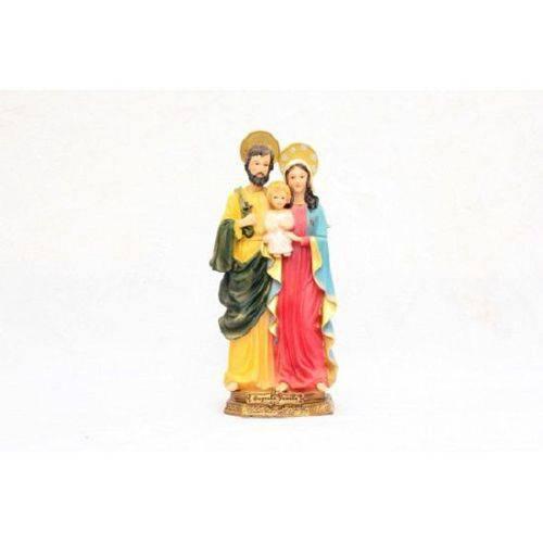 Imagem Escultura Resina Santos Sagrada Familia 22 Cm