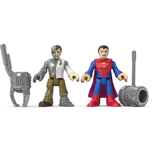 Imaginext - Batman Figuras - Super Homem e Metallo Dfx91 - MATTEL