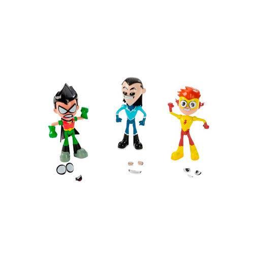 Imaginext Teen Titans Conjunto Mini Figuras Robin Kid Flash e Aqualad - Mattel