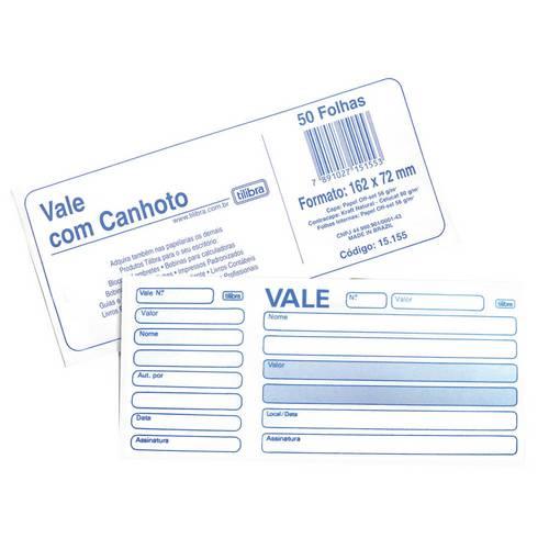 Impresso Vale com Canhoto Tilibra