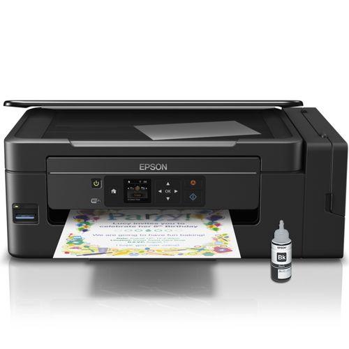 Impressora Multifuncional Epson Ecotank L495 Wireless com Refil Preto T664120