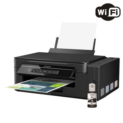 Impressora Multifuncional Epson Ecotank L396 Color Wifi com Garrafa de Tinta T504 Preto