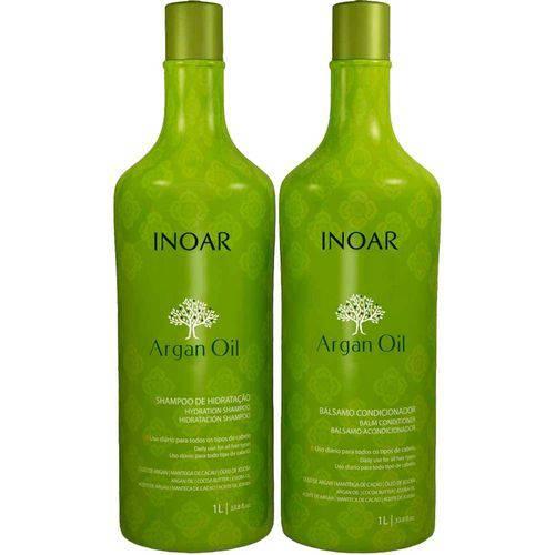 Inoar Kit Argan Oil Shampoo e Bálsamo Condicionador 1 Litro