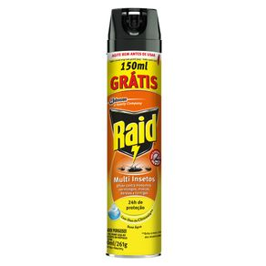 Inseticida Aerosol Raid Multi Insetos Citronela L450p300ml