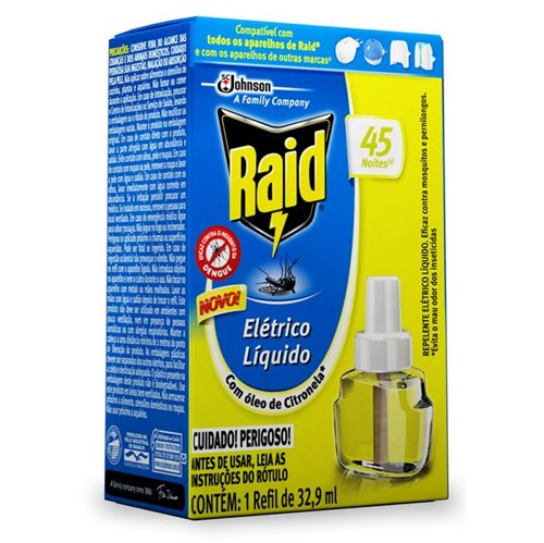 Inseticida Elet Raid 45noit Ref Citronela