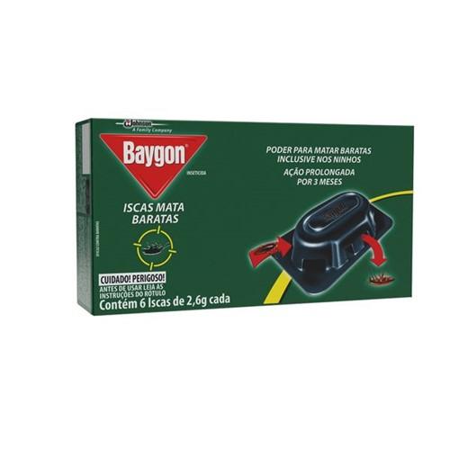 Inseticida Isca Baygon com 6 Unidades Mata Barata