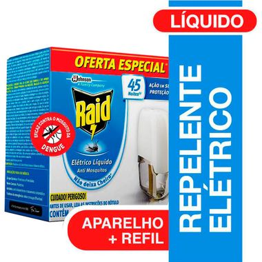 Inseticida Raid 45 Noites Aparelho + Refil 32,9ml