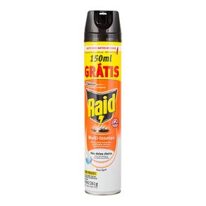 Inseticida Raid Multi Insetos 300ml Grátis 150ml