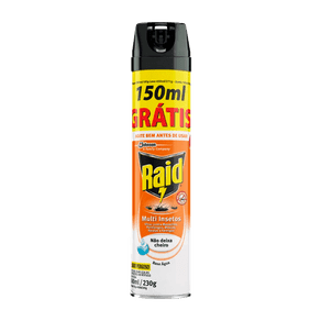Inseticida Raid Multi Insetos Base Água 300ml + 150ml Grátis