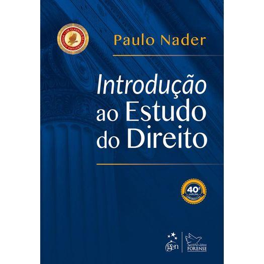 Introducao ao Estudo do Direito - Nader - Forense - 40 Ed