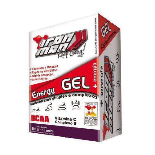 Iron Man Instant Energy Gel - Caixa com 10 Unidades Baunilha - New Millen