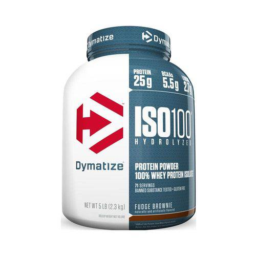 Iso 100 5lbs (2268g) - Brownie - Dymatize Nutrition