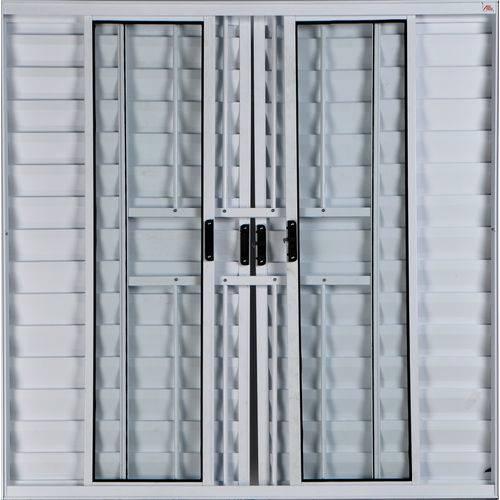 Janela Veneziana de Alumínio 6 Folhas com Grade Branco 1,00 X 1,20 Linha All Modular