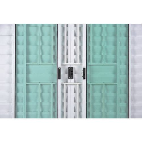 Janela Veneziana de Alumínio 6 Folhas com Grade Branco 1,00 X 1,80 Linha All Soft