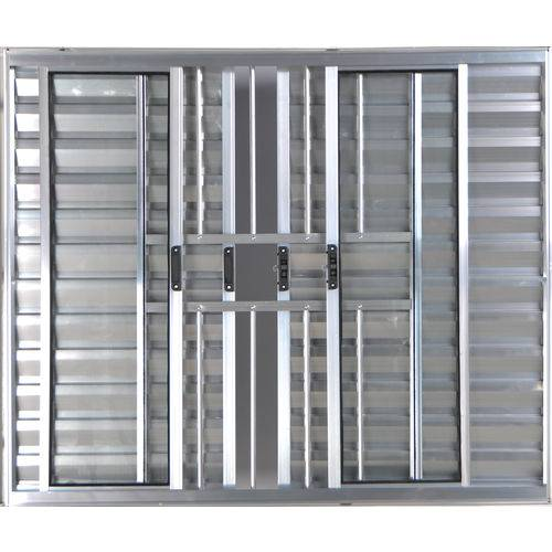 Janela Veneziana de Alumínio 6 Folhas com Grade Brilhante 1,20 X 1,20 Linha All Modular