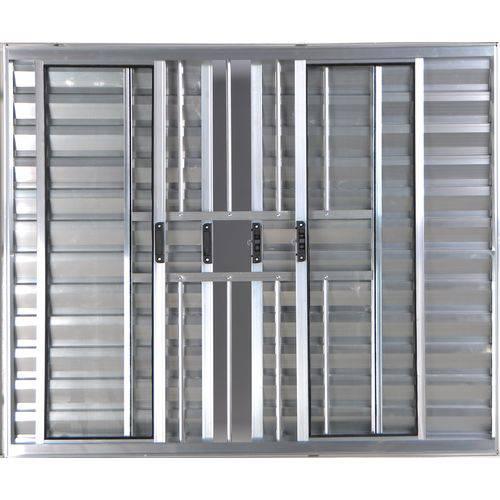 Janela Veneziana de Alumínio 6 Folhas Sem Grade Brilhante 1,00 X 1,00 Linha All Modular