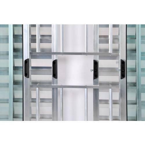 Janela Veneziana de Alumínio 6 Folhas com Grade Brilhante 1,00 X 1,50 Linha All Soft