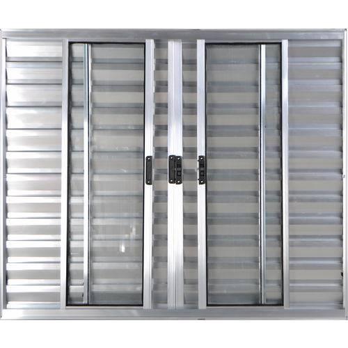 Janela Veneziana de Alumínio 6 Folhas Sem Grade Brilhante 1,00 X 1,20 Linha All Modular