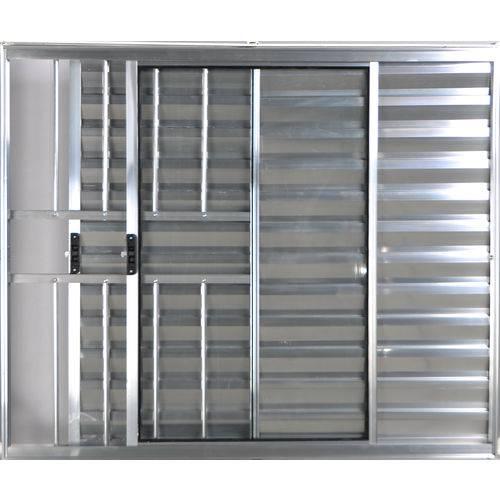 Janela Veneziana de Alumínio 3 Folhas com Grade Brilhante 1,20 X 1,50 Linha All Modular