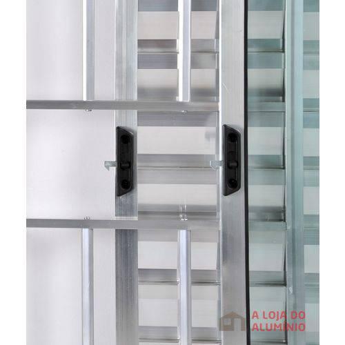 Janela Veneziana de Alumínio 3 Folhas com Grade Brilhante 1,20 X 1,20 Linha All Soft