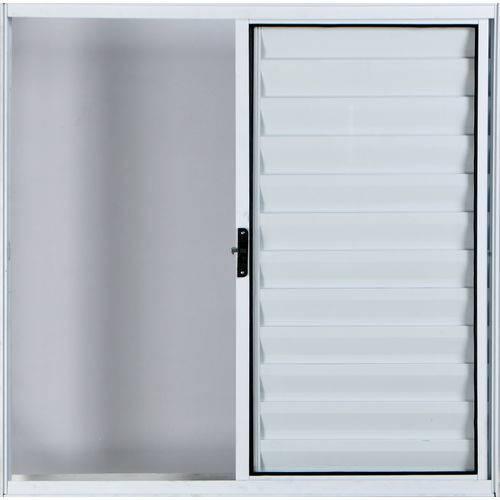 Janela Veneziana de Alumínio 3 Folhas Sem Grade Branco 1,00 X 1,50 Linha All Modular
