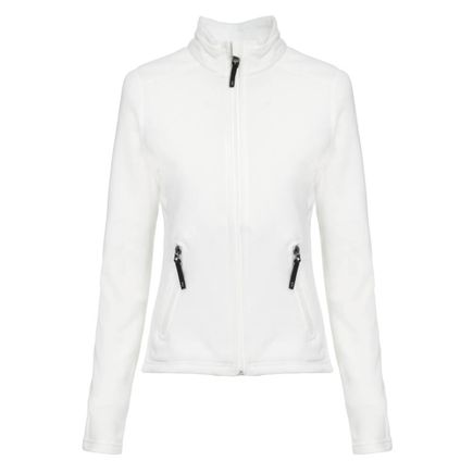 Jaqueta de Fleece para Frio Solo Feminina Ecru Tam. PP