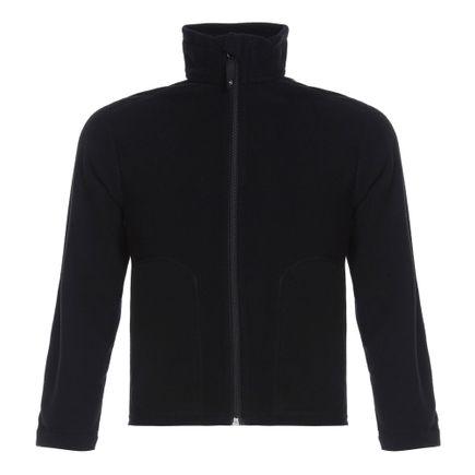 Jaqueta de Fleece para Frio Solo Infanto Juvenil Preta Tam. 2