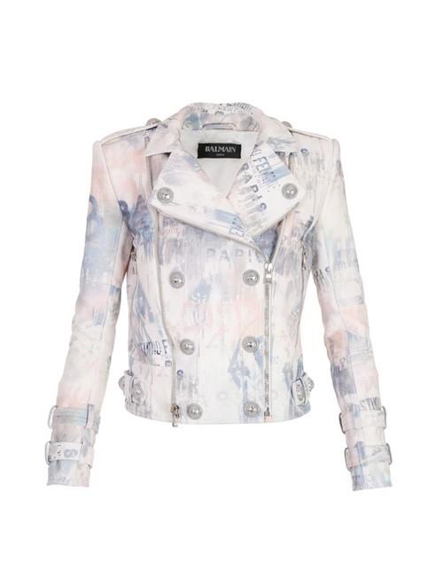 Jaqueta Estampada Branca Tamanho 40