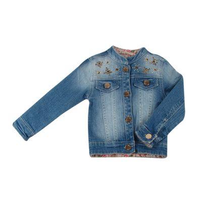 Jaqueta Feminina Jeans - Azul - Petit Cherie-1ano