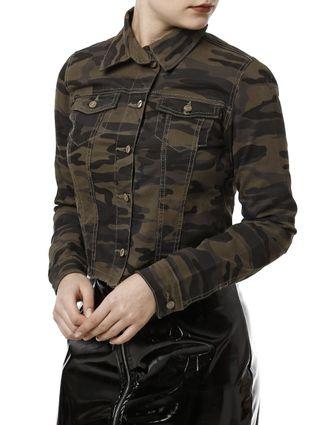 Jaqueta Jeans Feminina Bivik Verde