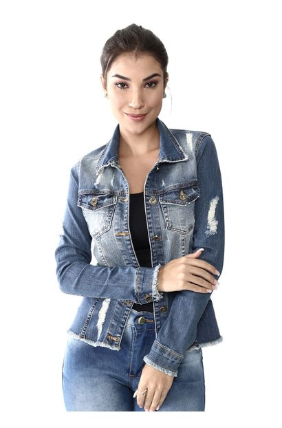 Jaqueta Jeans Feminina Destroyed - 259500 M