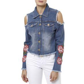 Jaqueta Jeans Feminina Uber Azul P