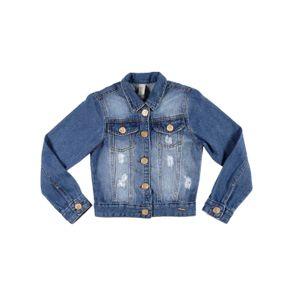Jaqueta Jeans Juvenil para Menina - Azul 8