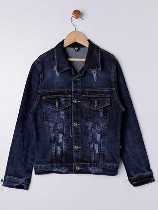 Jaqueta Jeans Juvenil para Menino - Azul