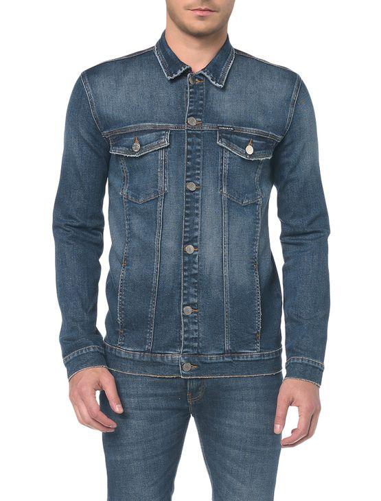 Jaqueta Jeans Trucker - Marinho - M