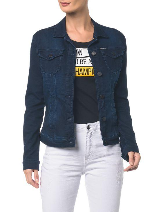 Jaqueta Jeans Trucker - Marinho - GG