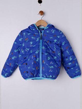 Jaqueta Nylon Infantil para Menino - Azul