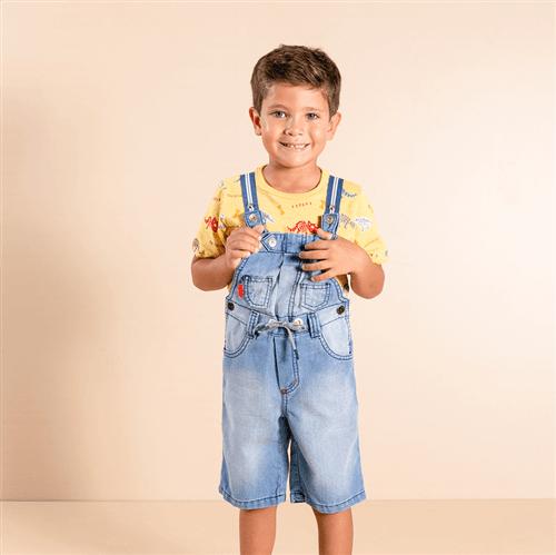 Jardineira Caçadores de Fósseis Jardineira Cacadores de Fosseis Jeans/4 e 6