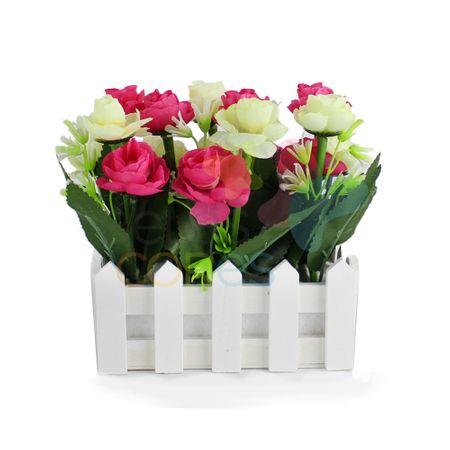 Jardineira com Rosas - Pink - 1 Unidade