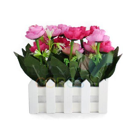 Jardineira com Rosas - Rosa - 1 Unidade
