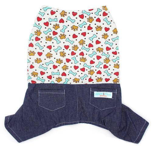 Jardineira Jeans Pet Coração
