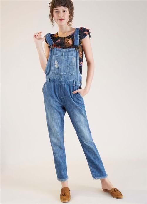 Jardineira Jeans Raw Especial Jeans G