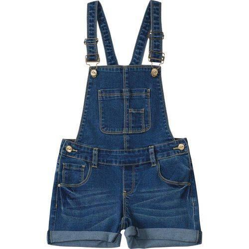 Jardineira Lilica Ripilica Jeans Menina Azul