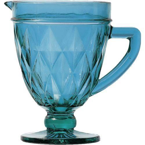 Jarra em Vidro Diamond Azul 1L - Lyor